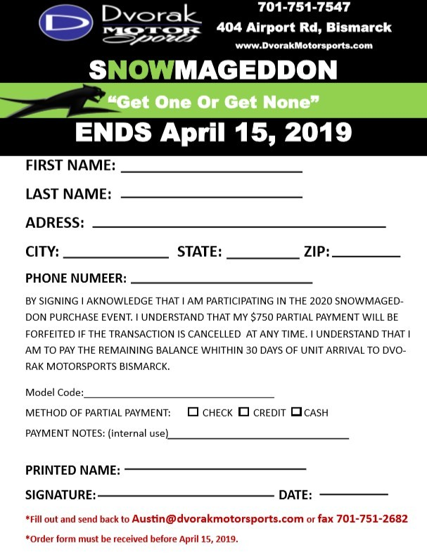 Snowmagedon Form